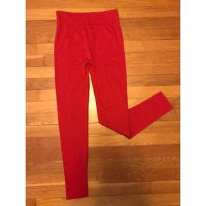 Red winter leggings